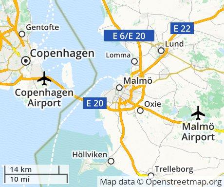 map of Skåne
